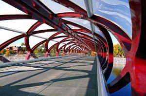 Peace Bridge Calgary Downtown Attraction