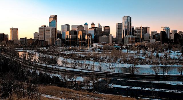 City skyline of Calgary from Hawkwood Calgary
