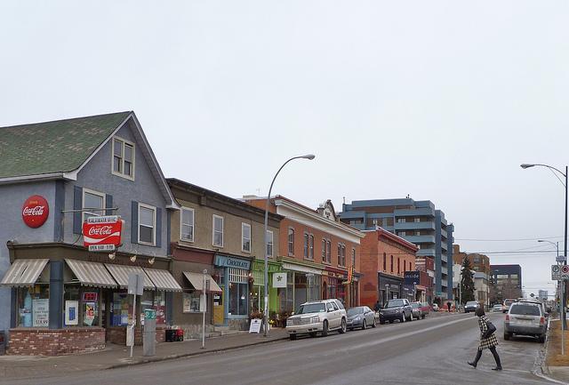 Beltline Calgary Downtown Neighbourhood House Rental Street Stores