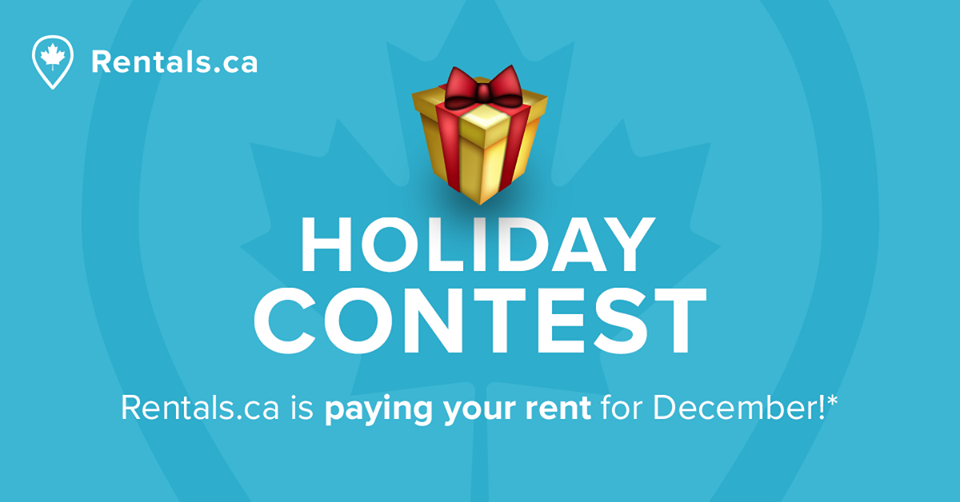 December Rentals.ca rent contest