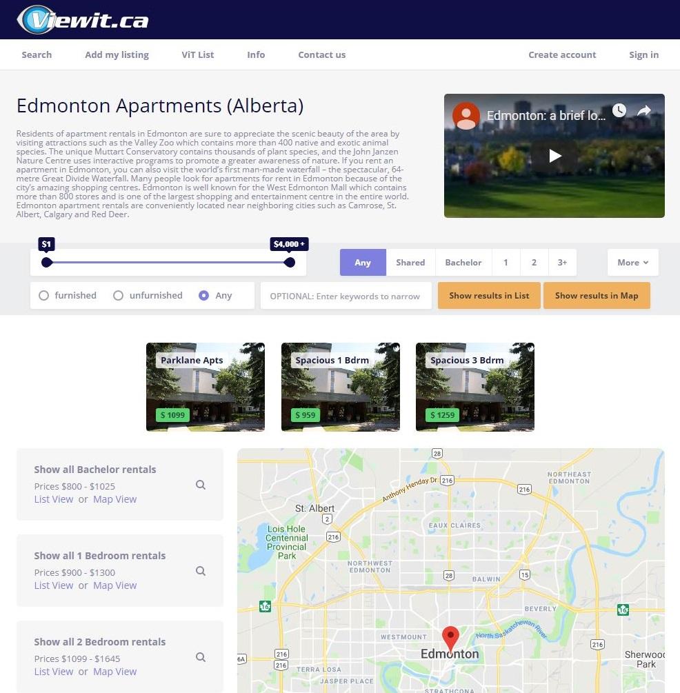 The Top 10 Apartment Rental Websites In Edmonton